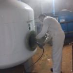 Labores de desinfección de legionella en empresa de Sevilla