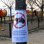 Niños en peligro, en un parque público de Bormujos con Ratas.