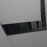 Falso techo por donde circulan la ratas