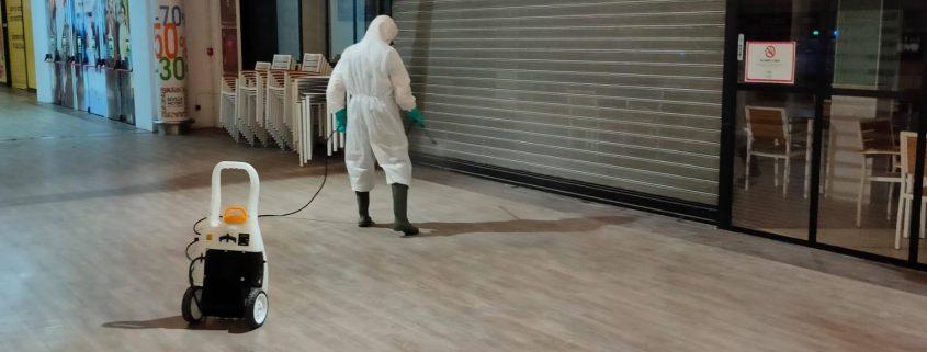 Desinfección y prevención Centro Comercial Sevilla Factory Dos Hermanas