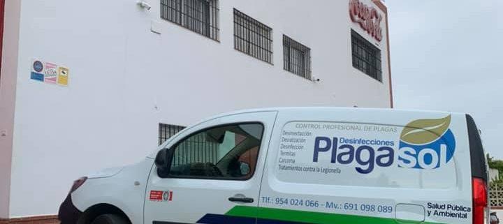 Prevención y desinfección en la empresa Cruzcampo de Écija